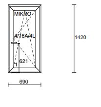 Plastikiniai langai ALUPLAST IDEAL7000RL