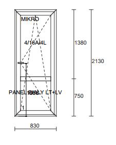 Balkono durys ALUPLAST IDEAL7000RL