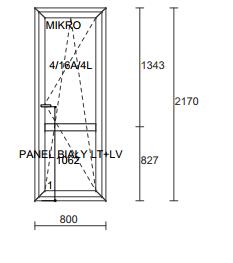 Plastikinės durys ALUPLAST IDEAL7000RL